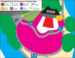 Wingfield Park Seating Map